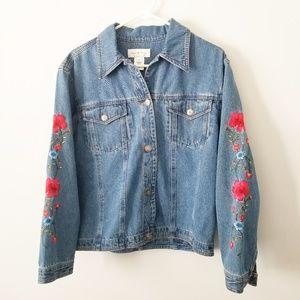 Susan Bristol Embroidered Denim Jacket